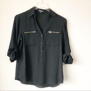 Express   Black portofino shirt